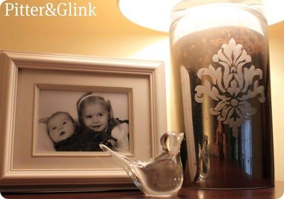 diy mercury glass lamp