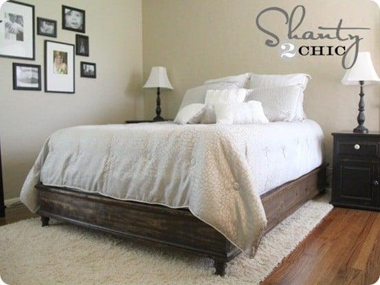 Unique diy queen platform bed