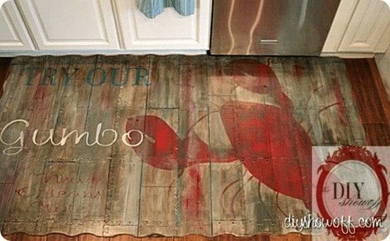 painted foam kitchen mat