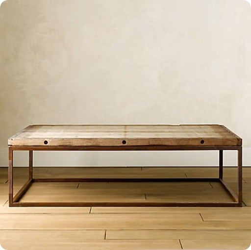 Wood and metal coffee table Restoration coffee tables