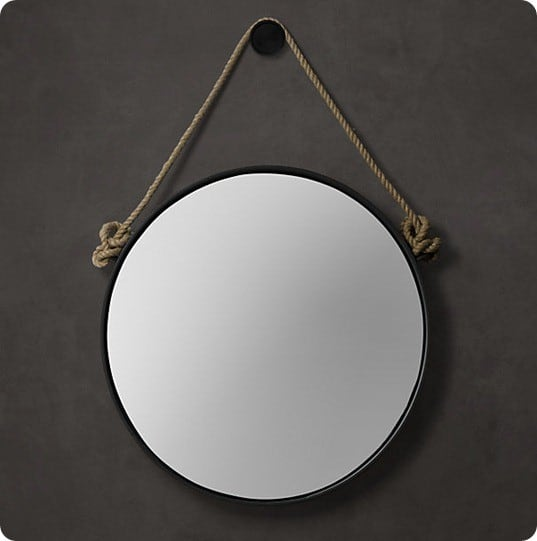 Round rope mirror for Restoration hardware round mirror