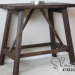 Trestle Side Tables