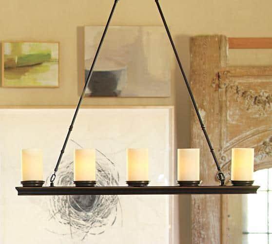 veranda linear chandelier