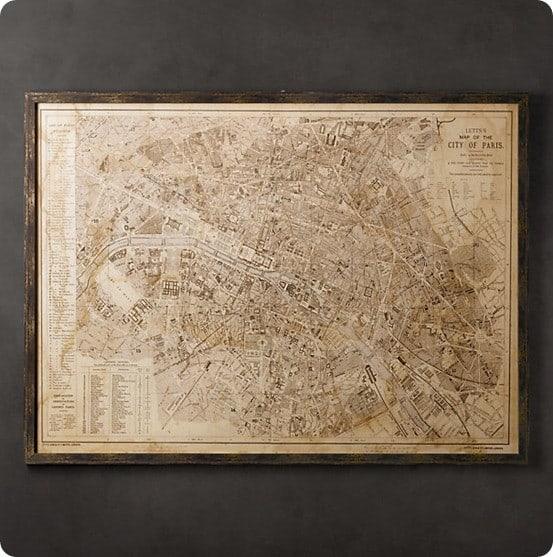 vintage paris map rh