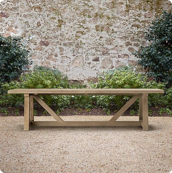 120 Provence Beam Rectangular Dining Table