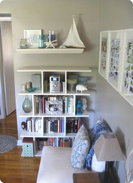DIY open structure bookcase