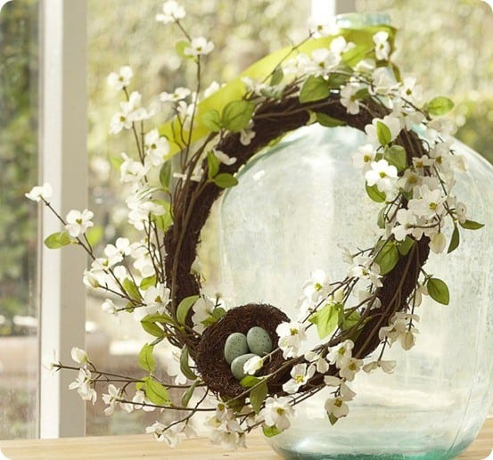 Faux Trailing Dogwood Wreath
