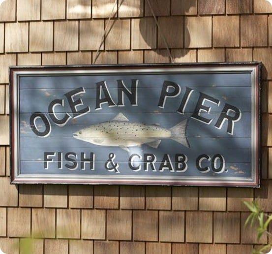 Ocean Pier Sign