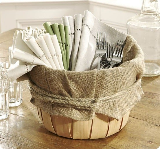 PB Prop Collection - Burlap Basket Inserts