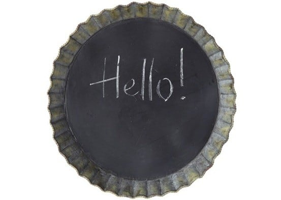 Round Wall Chalkboard & Magnet Board