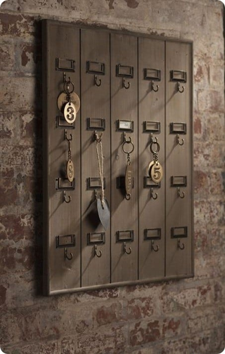 Vintage Inspired Hotel Key Rack