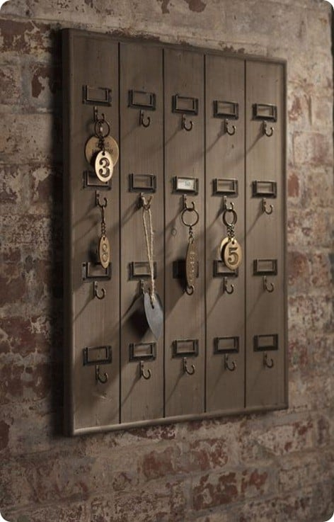 Vintage Inspired Hotel Key Rack