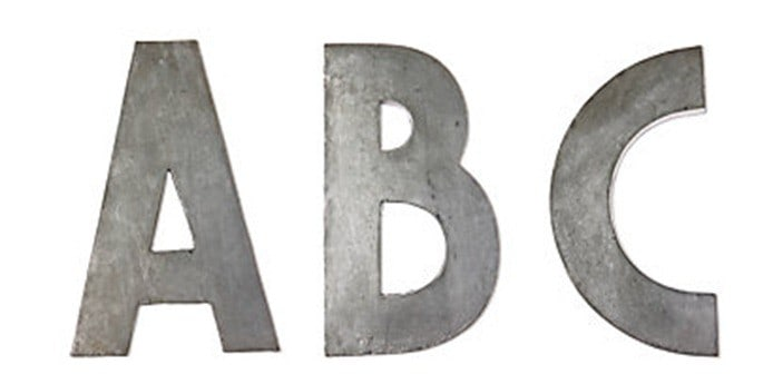 anthro zinc letter