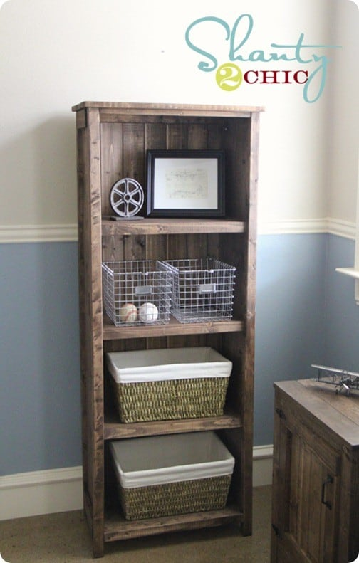 Rustic Diy Bookcase Homedesignpictures