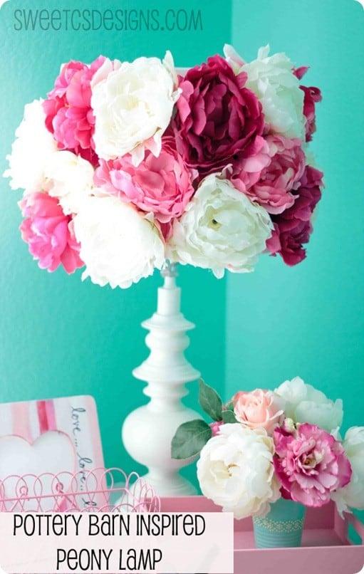 flower lampshade. Black Bedroom Furniture Sets. Home Design Ideas