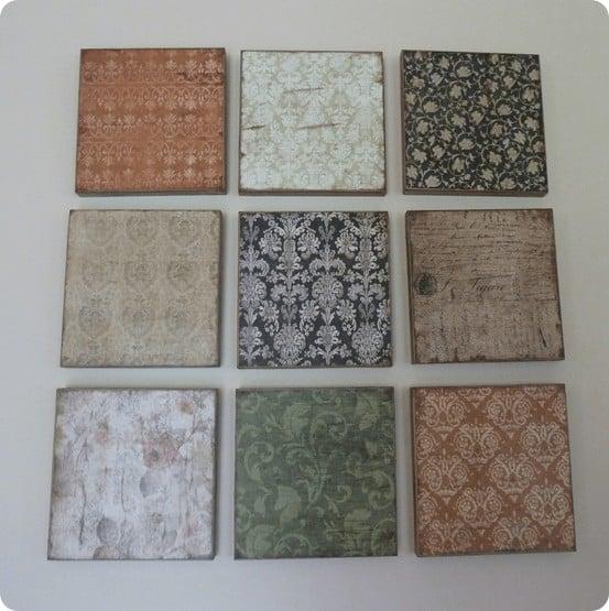 diy scrapbook paper plaques