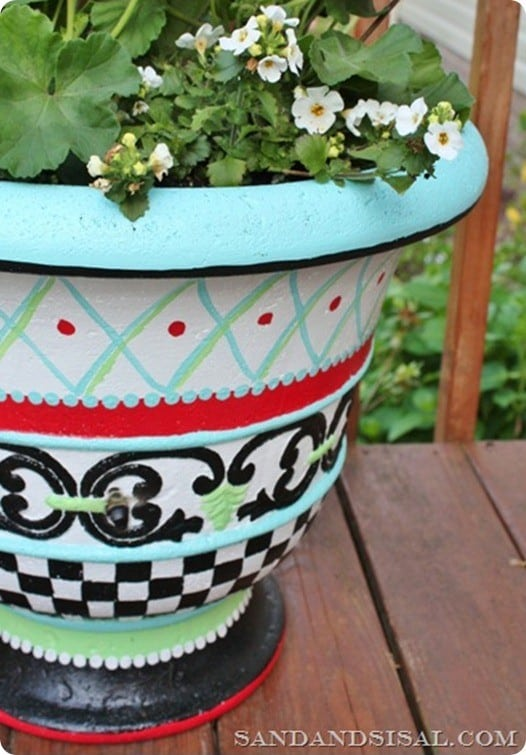 handpainted planter