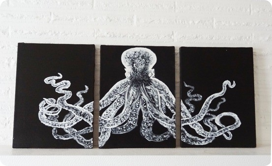 knockoff octopus triptych