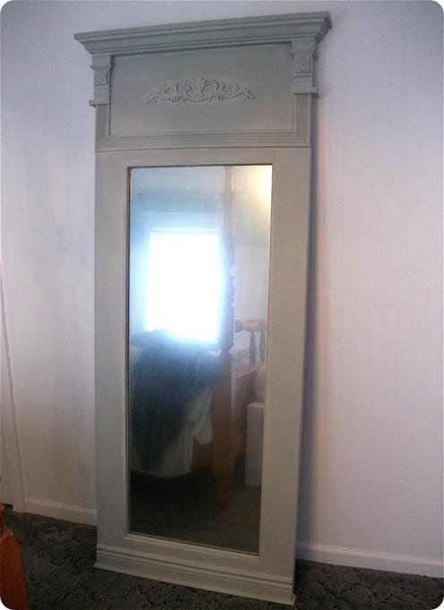 old door to trumeau mirror