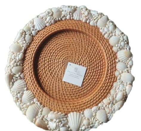 pottery barn shell chargers