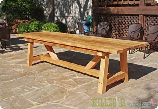 outdoor wood tables plans