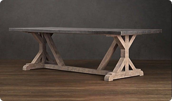 railroad tie table