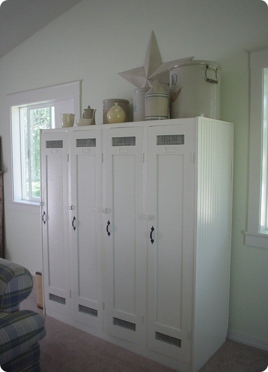 refabbed wood lockers