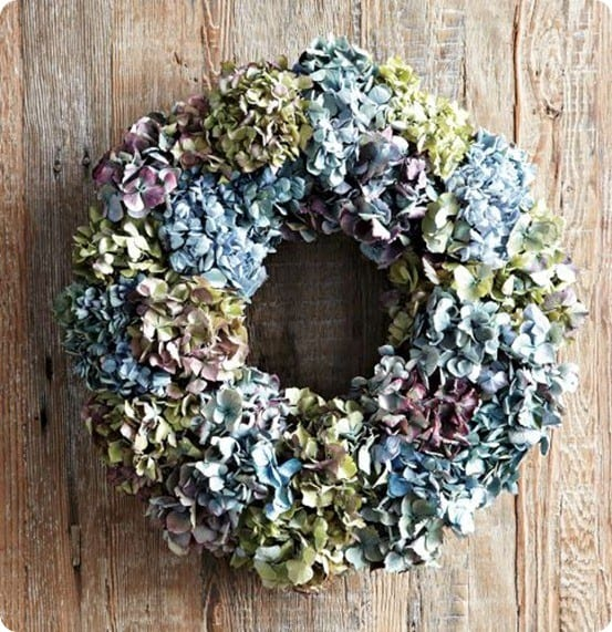 william sonoma hydrangea wreath