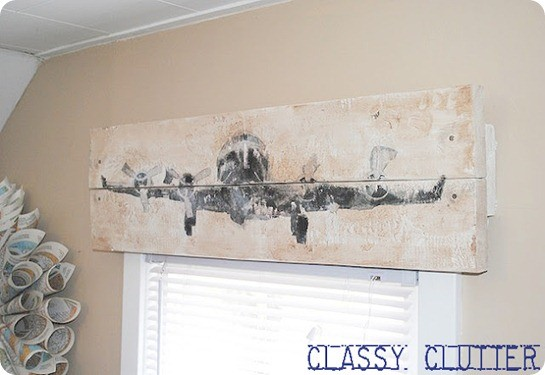 wood airplane valance