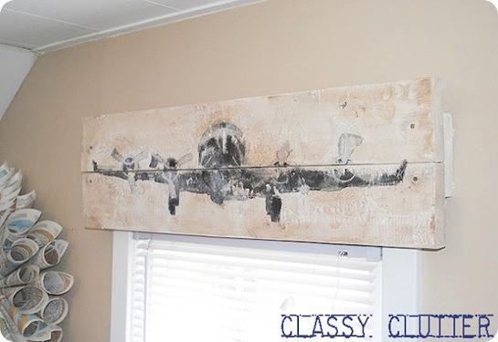 wood airplane valance