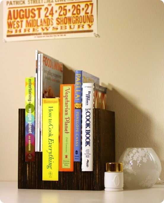 wood book display