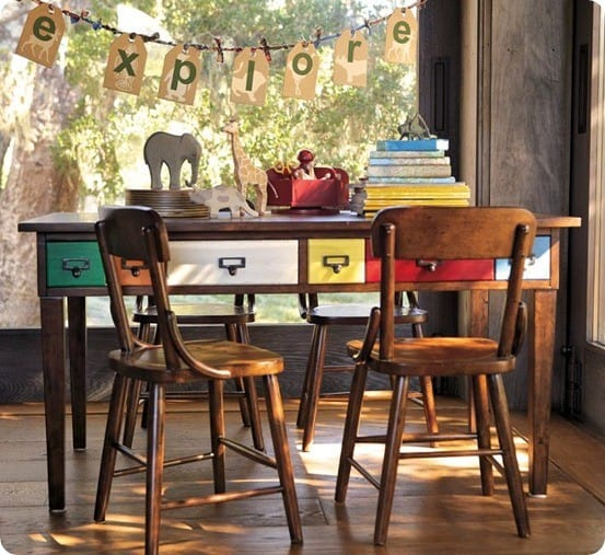 Brunswick Play Table & Hudson Vintage Chairs