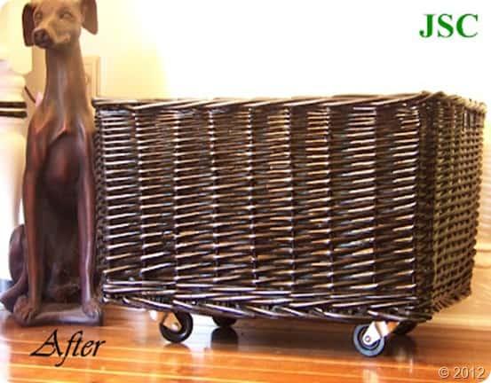 DIY rolling basket