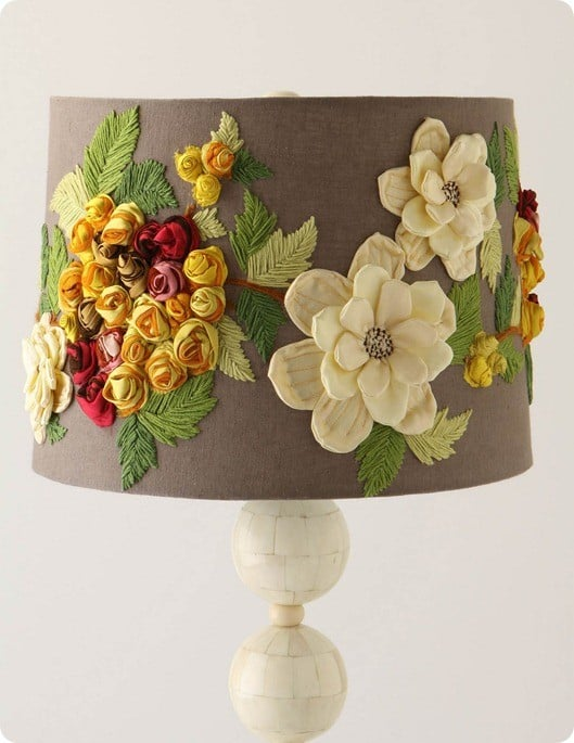 Flower Embellished Lampshade
