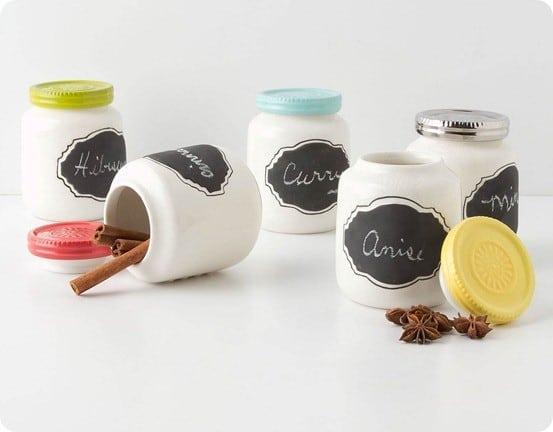 anthro chalkboard spice jars