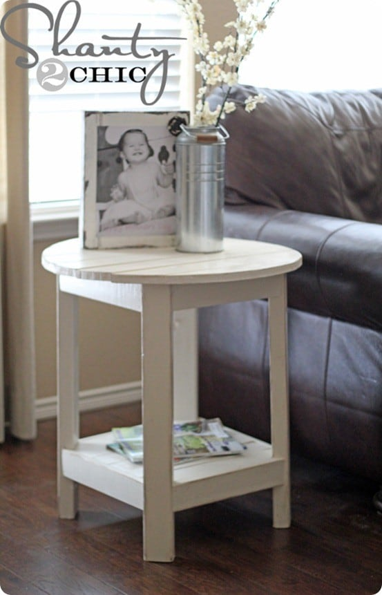 bench side table