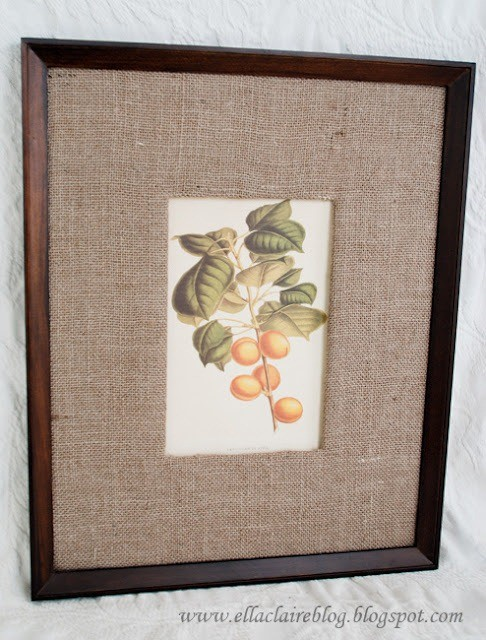 burlap_matted_frame