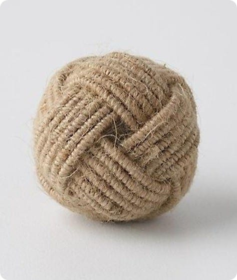 coiled rope knobs