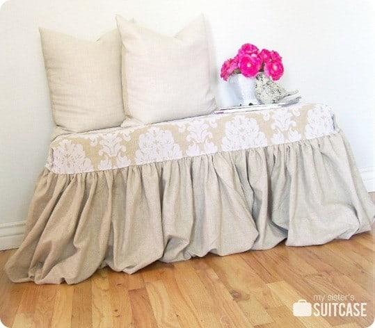 diy fabric bench