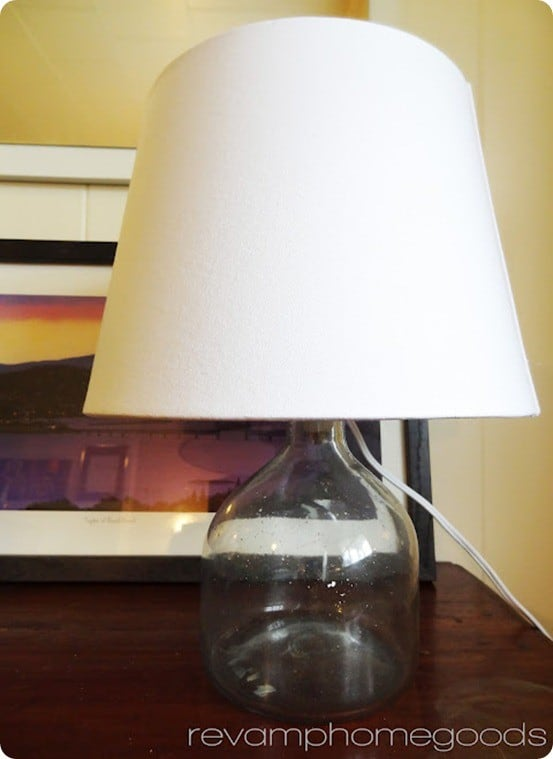 diy glass bottle lamp
