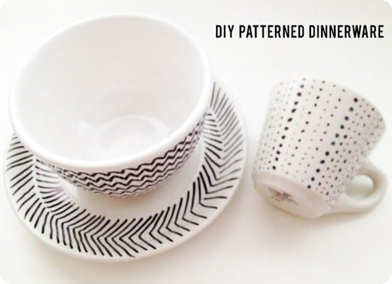 diy patterned dinnerware