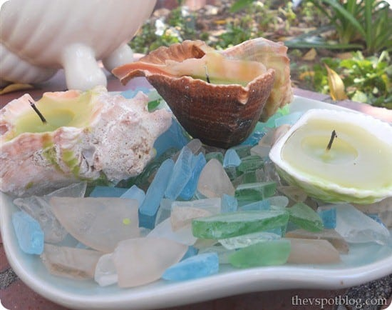 diy shell candles