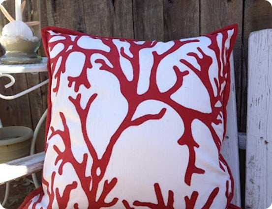 knock off coral pillow