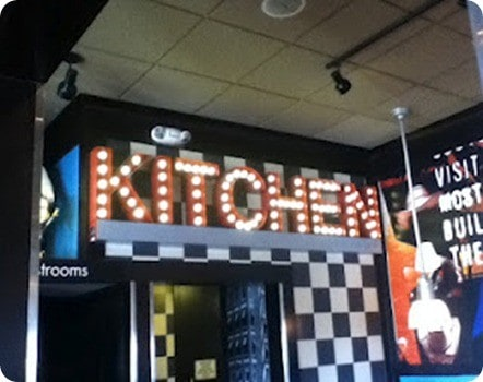 lighted kitchen sign