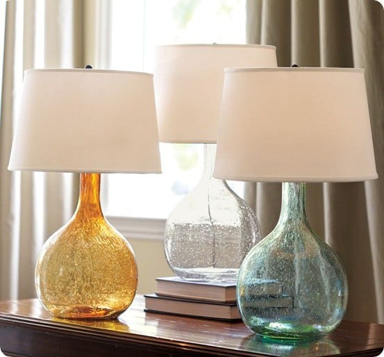 pb Eva Colored Glass Table Lamps