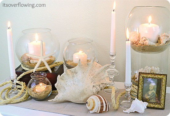 pb inspired beach vignette