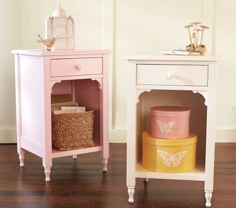 feminine pink nightstand. Black Bedroom Furniture Sets. Home Design Ideas