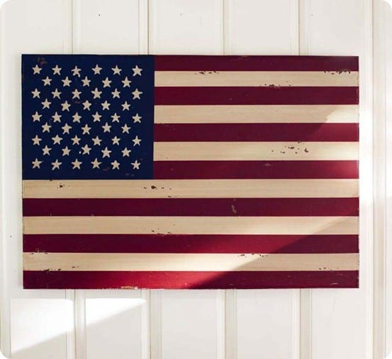 American Flag Wooden Art