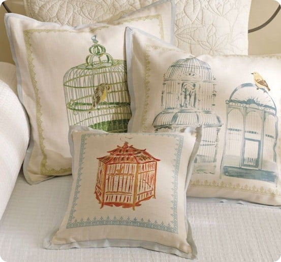 Bird Cage Pillow Covers