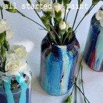 Paint Drip Jars
